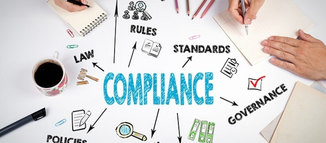 Compliance Concept. The meeting at the white office table